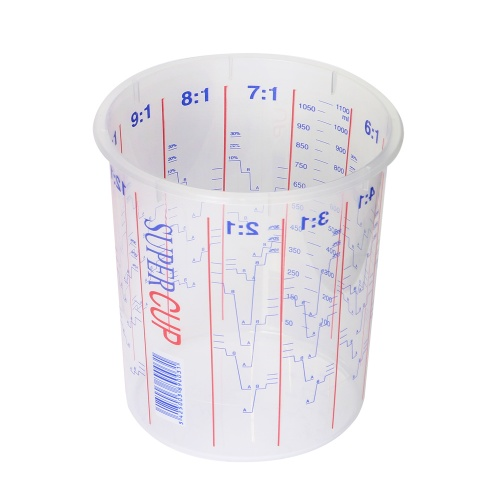 1300ml Clear Plastic Mixing Cup (Calibrated to 1100ml)