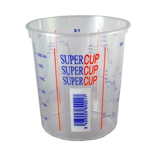 400ml Clear Plastic Mixing Cup (Calibrated to 340ml)