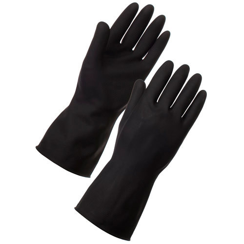 Black Heavyweight Rubber Gloves