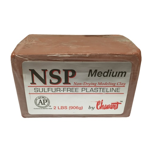 Chavant NSP Medium- Brown - Sulfur-Free Plasteline - 2lb Block (906g)