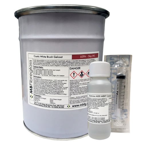 Crystic 65PA White 337 Brush Gelcoat - 5kg