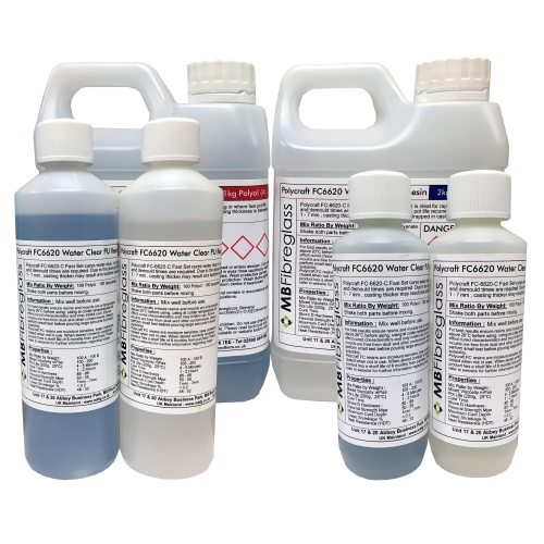 Polycraft FC6620 Fast-Set Water Clear Polyurethane Liquid Plastic Casting Resin (FC6620 is now discontinued and has been replaced by the Opti-Cast Water Clear Resin)