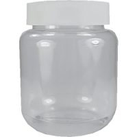100ml Clear Screw Top Jar & 43mm White Lid