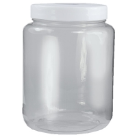 Polyjar Plastic Jar 500ml Clear 70mm Screw Cap