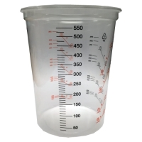 600ml Clear Plastic Mixing Cup (Calibrated to 550ml)
