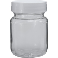65ml Clear Screw Top Jar & 38mm White Lid