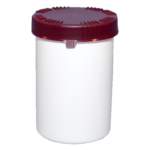 Polyjar Plastic Jar 1 Litre White 100mm TE Screw Cap