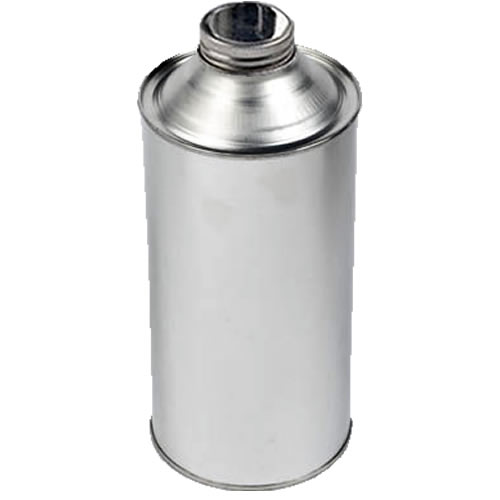 1 Litre Metal Cone Top Tin With 38mm Screw-Neck Metal Cap (Empty)