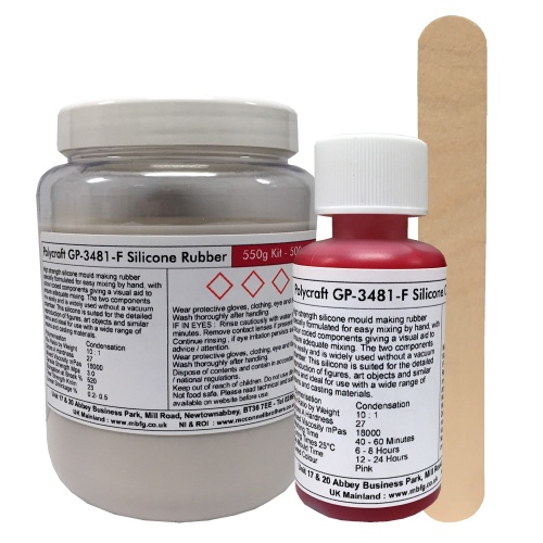 Polycraft GP3481-F General Purpose RTV Condensation Cure Mould Making  Silicone Rubber