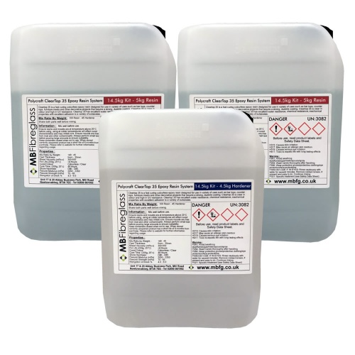 Polycraft ClearTop 35 Epoxy Water Clear Resin System (Bar ...