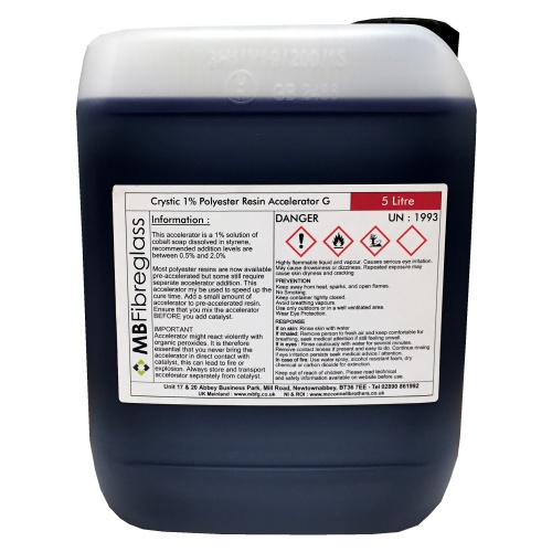 Polycraft Crystic 1% Polyester Resin Accelerator G - 5 Litre