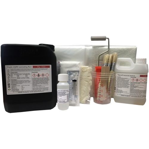 5Kg Fibreglass Repair Kit - Inc Material & Tools
