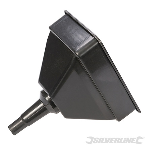 Large Black Plastic Funnel with Filter