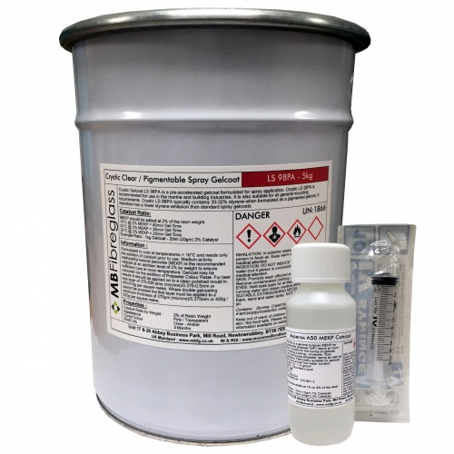 Crystic LS 98PA Clear Spray / Unpigmented Gelcoat - 5kg (SPRAY ONLY)