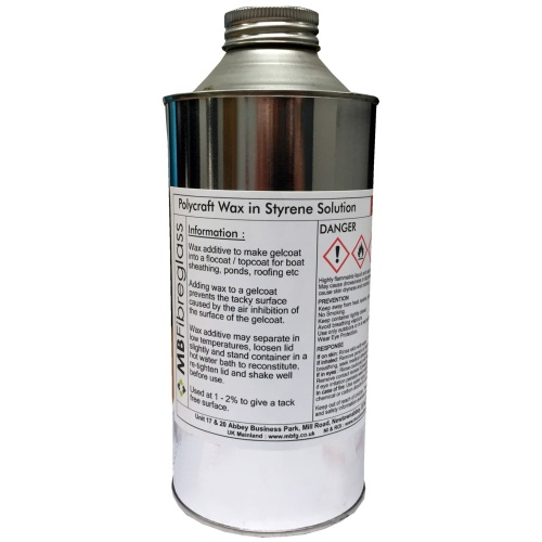 Wax in Styrene Solution (10%) - 1 Litre