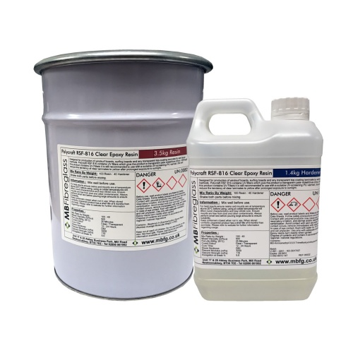 Polycraft RSF 816 Low Viscosity UV Resistant Epoxy Laminating Resin