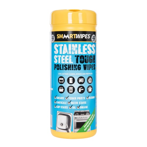 SMARTWIPES Stainless Steel Tough Polishing Wipes - 40pk