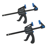 Lightweight 4'' (100mm) Quick Release Bar Clamp - 2pk