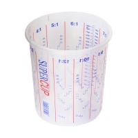 2240ml Clear Plastic Mixing Cup (Calibrated to 1900ml)