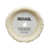 Roar 8'' Single Sided Wool Compounding Pad (White)