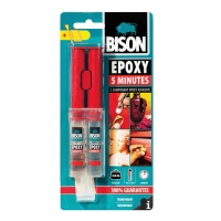 Bison Epoxy 5 Minutes Adhesive - Transparent - 24ml