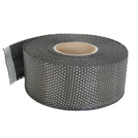 Carbon Fibre Plain Weave Tape 50mm (2'') Wide (240g/m²)
