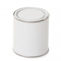 250ml Metal Lever Lid Tin White/Plain With White Metal Lid (Empty)