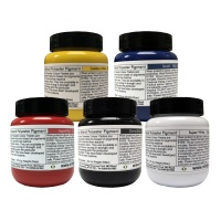5pk Polyester Pigment Multipack (White / Black / Yellow / Red  / Blue)